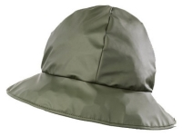 Vízhatlan poliuretán esősapka, könnyű, zöld anyag, 7,5cm széles perem,
