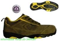 ASCANITE (S1P HRO CK) khaki nubukbőr/vászon sportcipő, kompozit kapli+