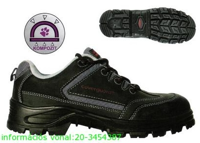 ARAGONITE (S1P CK) LEP48 fekete bivalybőr cipő, kompozit kapli+talp, T