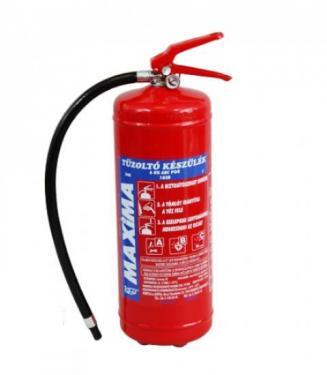 6 kg ABC porral oltó Maxima  PKM6B- as  tűzoltó készülék (poroltó)