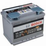 BOSCH S5 AGM Akkumulátor A05 12V 60Ah 680A Jobb+ (0092S5A050)