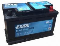 EXIDE Start Stop AGM Akkumulátor 12V 80Ah 800A Jobb+ (EK800)