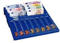 CONCEPT-NOTES bankjegyrekesz érmetartó tálcával Euro-hoz