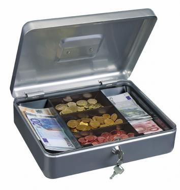 TRAUN-4 pénzkazetta érme- és bankjegy tartóval, A/4 belső mérettel