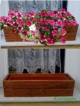 RETRO Fa balkonláda betéttel (85 cm)