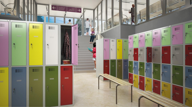 Rövidajtós ECO kategóriájú öltözőszekrények