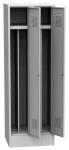 K2438 VM 2-ajtós öltözőszekrény, lábazattal, belső elválasztó fallal