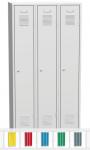 K2445 VM 3-ajtós öltözőszekrény, lábazattal, elválasztó fallal