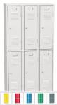 K2469/900 A 6-ajtós öltözőszekrény lábazattal (rövid ajtós)
