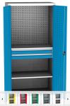 SPD 11C műhelyszekrény, 2 polc, 2 fiók, perforáció hátfalon, ajtókon