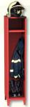 HAS-3 tűzoltóság öltözőszekrény, 1 személynek, sisak tartóval