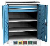 SPD 12 C szerszámtároló szekrény 2 db polccal és 2 db fiókkal