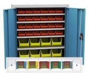 SPP 03 C alkatrésztároló szekrény 4 polccal, 32 db box-szal