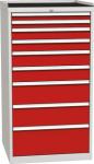 DPO 05 B műhelyszekrény 9 fiókkal, munkafelülettel, 1350 mm magas