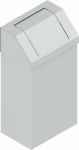 KOS-1269 csapófedeles fém szemetes kuka (90 l)