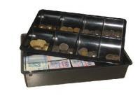 MK műanyag kassza, bankjegy és érme tartó