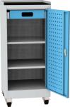 NAR_01K_B szerszámtároló szekrény, 2 db polc, 1 fiók, írófelület