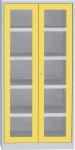SCH T1 A vegyszerszekrény rácsbetétes ajtóval, kifolyásgátló polcokkal