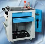 SVL_01_D műhelykocsi (3 fiók, 1 polc, zárható oldalsó tároló, szemetes, törlőkendő tartó)