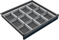 VND_DPO_11C fiók osztó (12 részre, 60-90-120 mm magas DPO fiókokhoz)