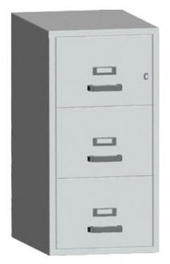 FC 3K-NN tűzálló függőmappa tároló szekrény (3 fiók, 60 perc, kulcsos)
