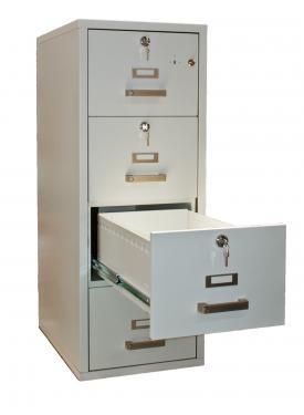 FRF 4K-NN tűzálló függőmappa tároló szekrény (4 fiók, 60 perc)