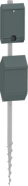 PWC-S1-A kutyaürülék gyűjtő, zacskó adagoló (oszlopra szerelt, leszúrh