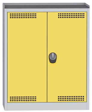 SCH 01B vegyszer tároló szekrény 2 polccal, kifolyásgátlókkal