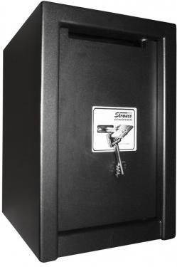 TRAFIK széf bedobó nyílással, MABISZ minősítéssel, kulcsos zárral