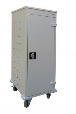 WNL 110 laptop/tablet tároló kocsi (fémszekrény 10 gépnek, töltővel)