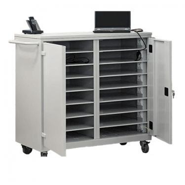 WNL 208 laptop/tablet tároló kocsi (fémszekrény 16 gépnek, töltővel)