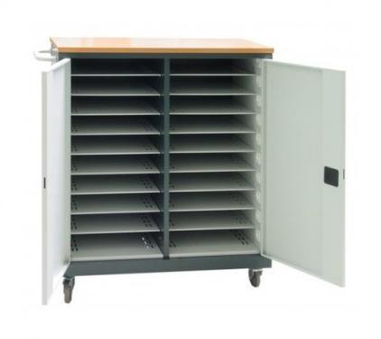 WNL 210 laptop/tablet tároló kocsi (fémszekrény 20 gépnek, töltővel)