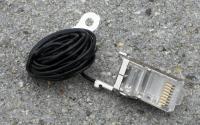 FTP csatlakozó Ubiquiti TC kábelhez, földelővezetékkel