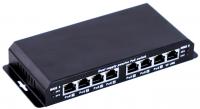 MaxLink POES-8-7P 7 portos POE switch + tápegység