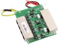 NetProtector 4 port POE, tokozatlan, DC kábel