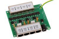 NetProtector 4 port POE, tokozatlan, DC aljzat