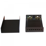 Optikai fali kötődoboz 8xSC, LC duplex, E2000 toldó számára