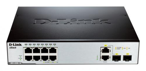 D-Link DES-3200-10 8x10/100+2SFP Layer2 Managed Switch