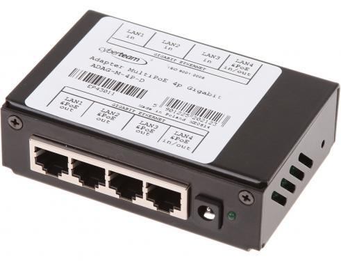 POE tápfeladó 4 port, fém-tokozott, Gigabit, MultiPoE