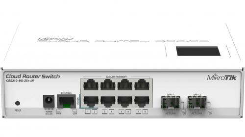 Cloud Router Switch CRS210-8G-2S+IN asztali/rack switch
