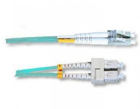 Optikai patch kábel SC-LC duplex 50/125um (multimódusú) 2m, OM3