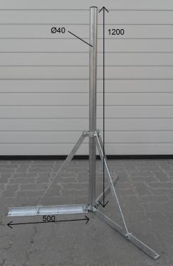 Stefino antenna konzol, lapostető, 3 lábú