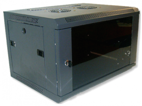 X-Tech - 6U fali rack szekrény 600x450 sötétszürke