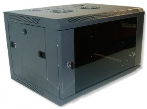 X-Tech - 9U fali rack szekrény 600x450 sötétszürke
