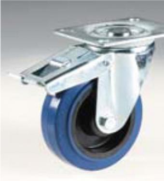 125 mm forgó fékes kerék