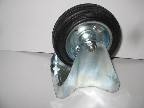 Fixvillás kerék álló  100 mm fekete gumis
