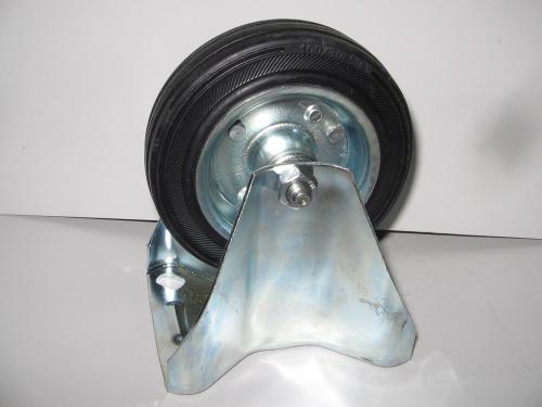 Fixvillás kerék 150 mm fekete gumis