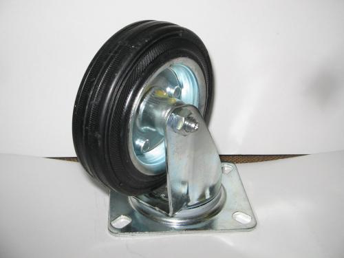 Forgó talpas kerék 125 mm fekete gumis