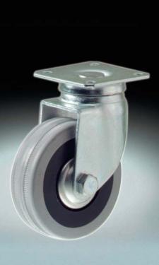 Kerék  szürke gumis talpas forgó  50 mm