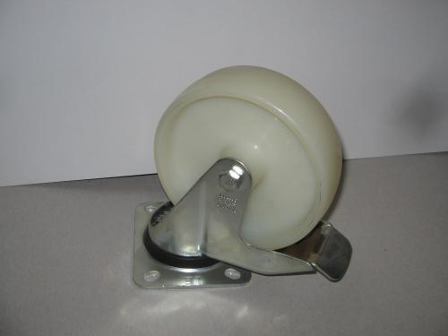 Forgófékes talpas kerék  poliamid  125 mm